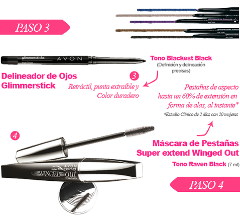 Delineador de Ojos Glimmerstick Tono Blackest Black y Máscara de Pestañas Super Extend Winged Out Tono Raven Black